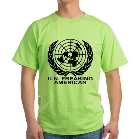 U.N. FREAKING AMERICAN Green T-Shirt