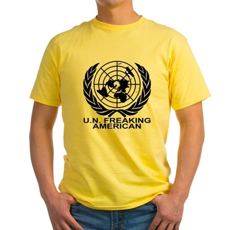 U.N. FREAKING AMERICAN Yellow T-Shirt