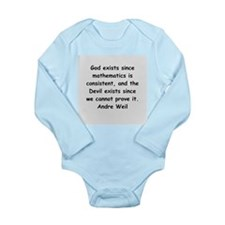 Andre Weil quotes Long Sleeve Infant Bodysuit