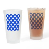 Blue with White Dots Drinking Glass