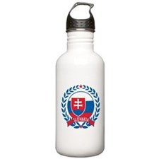 Slovakia Wreath Water Bottle