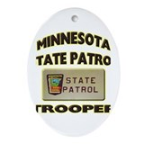 Minnesota State Patrol Ornament (Oval)