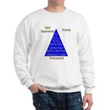 New Hampshire Food Pyramid Sweatshirt