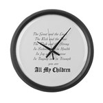 The AMC poem Large Wall Clock