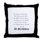 The AMC poem Throw Pillow