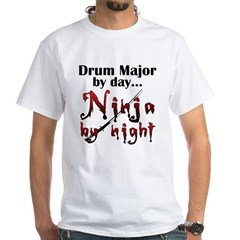 Drum Major Ninja White T-Shirt