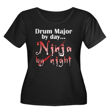 Drum Major Ninja Women's Plus Size Scoop Neck Dark