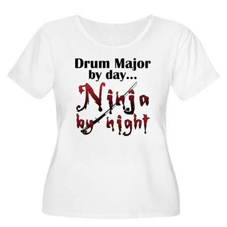 Drum Major Ninja Women's Plus Size Scoop Neck T-Sh