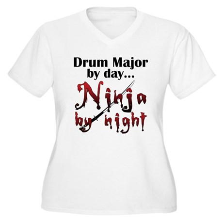 Drum Major Ninja Women's Plus Size V-Neck T-Shirt
