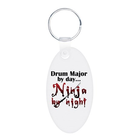Drum Major Ninja Aluminum Oval Keychain