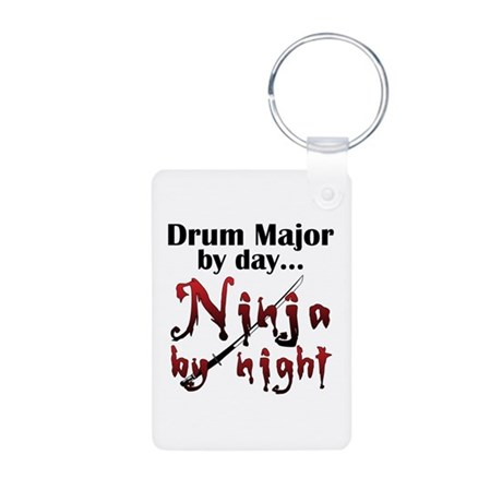 Drum Major Ninja Aluminum Photo Keychain