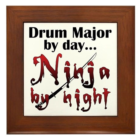 Drum Major Ninja Framed Tile