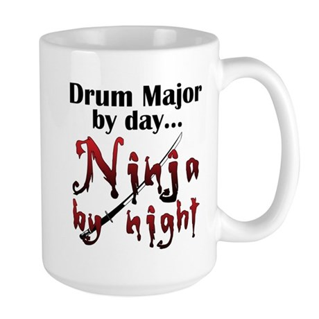 Drum Major Ninja Large Mug