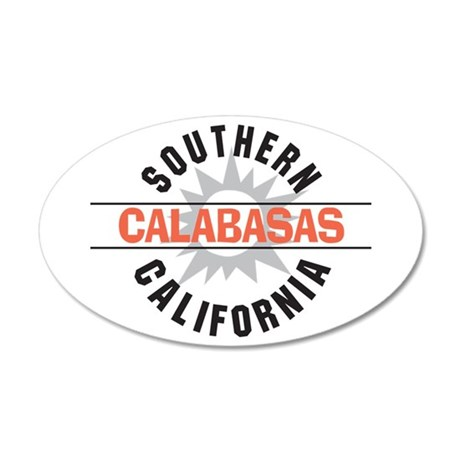 Calabasas California 22x14 Oval Wall Peel