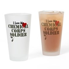 I Love My Chemical Corps Drinking Glass
