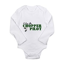 I Love My Chopper Pilot Long Sleeve Infant Bodysui