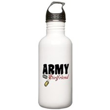 Army Girlfriend Dog Tags Water Bottle