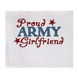 Army Girlfriend Collage Throw Blanket