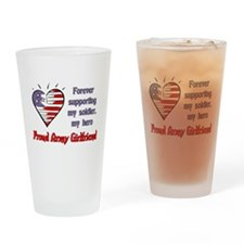 Forever supporting - Army Gir Drinking Glass