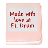 Made with love - Drum baby blanket