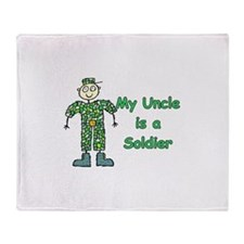My Uncle is a Soldier Throw Blanket