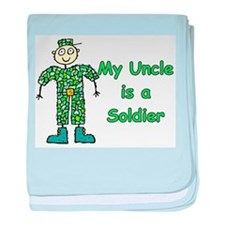 My Uncle is a Soldier baby blanket