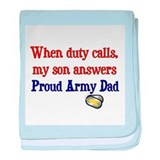 When Duty Calls - Dad baby blanket