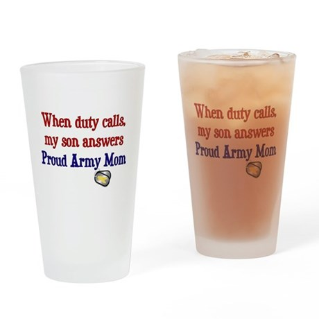 When Duty Calls - Mom Drinking Glass