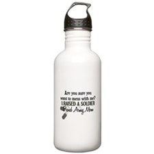 Raised a Soldier - Mom Water Bottle