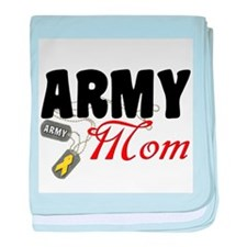 Army Mom Dog Tags baby blanket