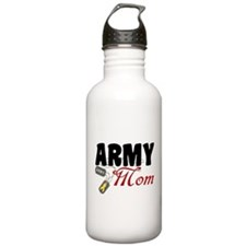 Army Mom Dog Tags Water Bottle
