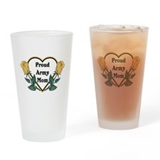 Yellow Rose - Army Mom Drinking Glass