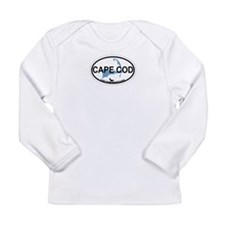 Cape Cod MA - Oval Design Long Sleeve Infant T-Shi