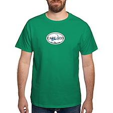 Cape Cod MA - Oval Design T-Shirt