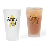 Army Dad Ribbon Drinking Glass