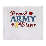 Army Sister (collage) Throw Blanket