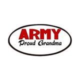 Army Grandma (red) Patches