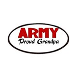 Army Grandpa (red) Patches