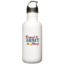 Army Aunt (collage) Sports Water Bottle