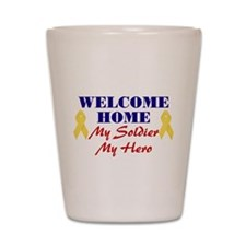 Welcome Home Soldier Shot Glass
