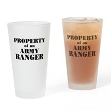Property of an Army Ranger Drinking Glass
