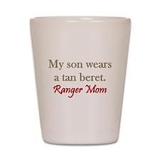 Ranger Mom - tan beret Shot Glass