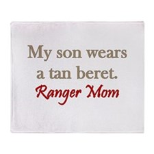 Ranger Mom - tan beret Throw Blanket