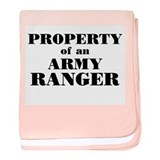 Property of an Army Ranger baby blanket