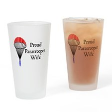 Proud Paratrooper Wife Drinking Glass
