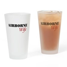 Airborne Wife Drinking Glass