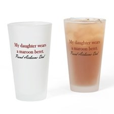 Daughter/Dad Maroon Beret Drinking Glass