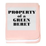 Property of a Green Beret baby blanket