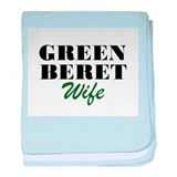 Green Beret Wife baby blanket