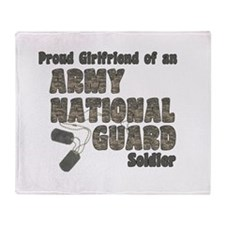 Cute Army national guard girlfriend Throw Blanket